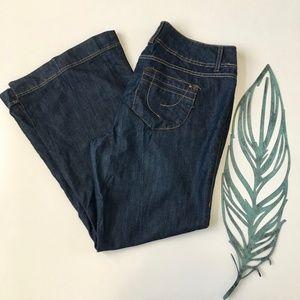 torrid super wide Leg Dark Wash Flare Jeans 14
